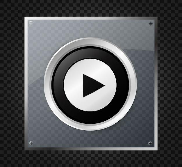 Botão play. ilustração. botão de ícone.
