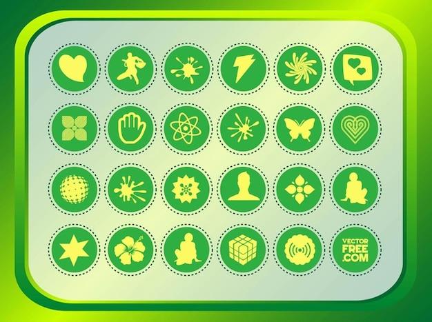 Botão promocionais vetores elementos de design