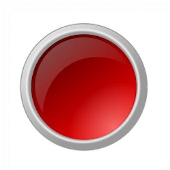 Botão vermelho brilhante
