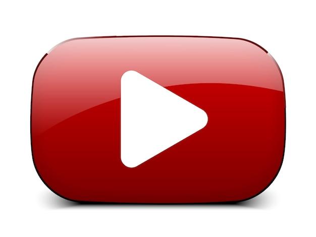 Botão vermelho do player de vídeo