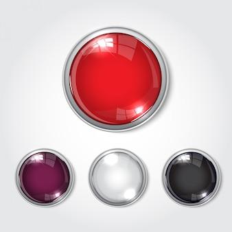 Botão web cor brilhante