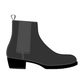 Botas clássicas de sapatos masculinos isoladas. ícones de sapatos de temporada de homem masculino. ilustração vetorial de calçado