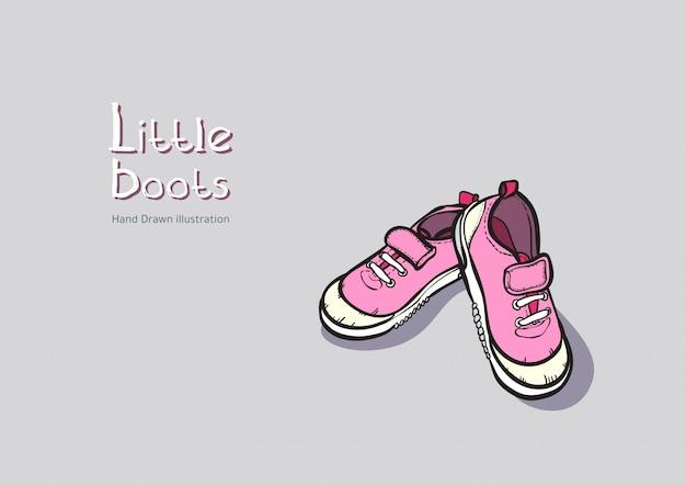 Botas cor de rosa para crianças