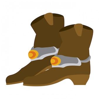 Botas de cowboy isoladas