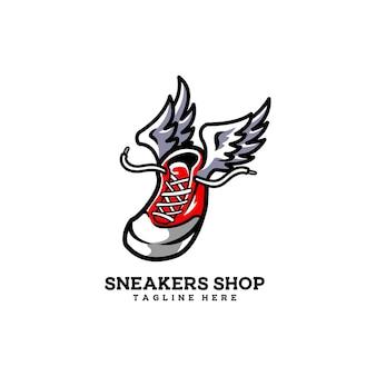 Botas de sapatos esportivos de asa de loja de tênis