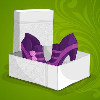 Botas roxas de tornozelo de moda feminina