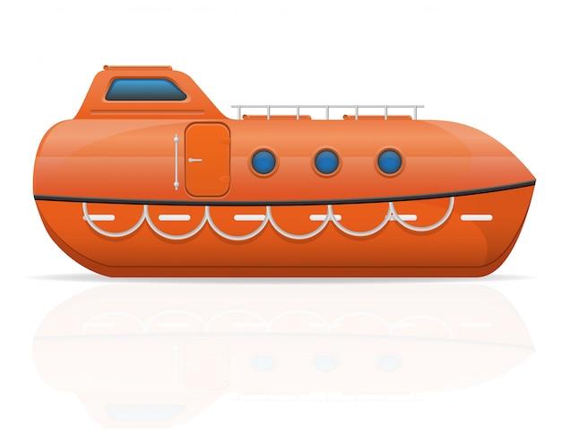 Bote salva-vidas náutico.