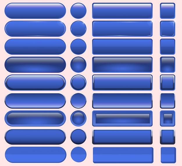 Botões azuis muitos para o design do site.