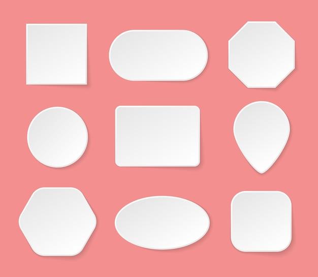 Botões brancos em branco