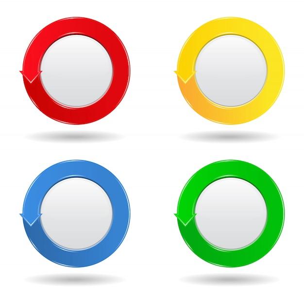 Botões círculo