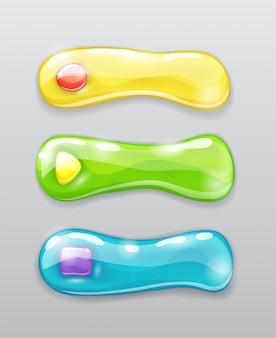 Botões coloridos bonitos