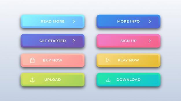 Botões coloridos da web