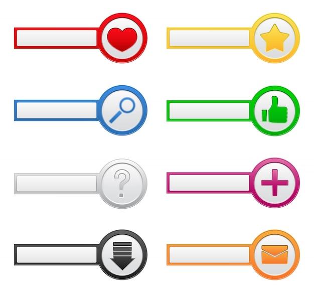 Botões com ícones