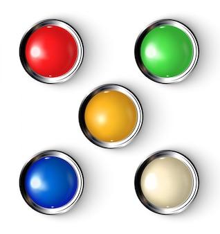 Botões com indicador.