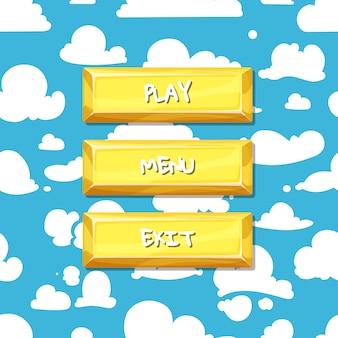 Botões com texto para jogo
