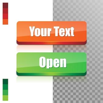 Botões da web em branco.