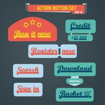 Botões de ação definido