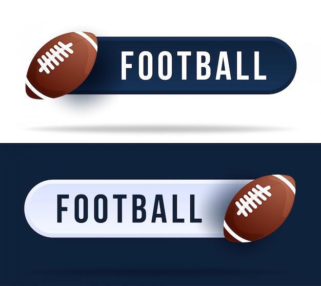 Botões de alternância de futebol. ilustração com bola de basquete e botão web com texto