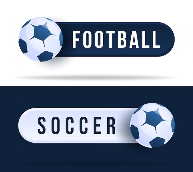 Botões de alternância de futebol ou futebol. ilustração com bola de basquete e botão web com texto