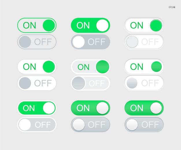 Botões de alternância de liga / desliga