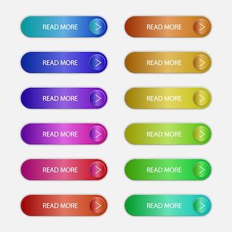 Botões de chamada para ação conjunto de design plano.