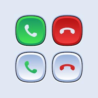 Botões de chamada telefônica