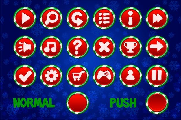 Botões de círculo de natal para a web