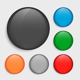 Botões de círculo vazio, definidos em muitas cores