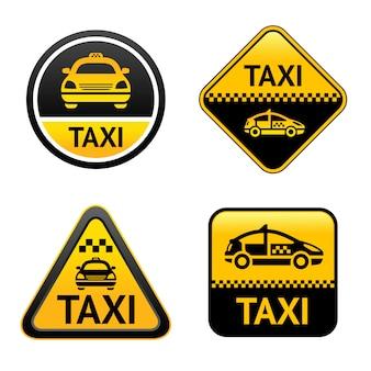 Botões de conjunto de táxi