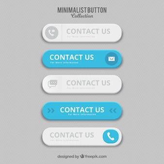 Botões de contacto minimalistas