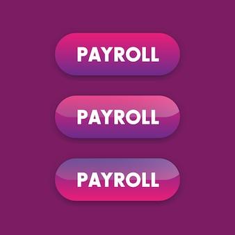 Botões de folha de pagamento