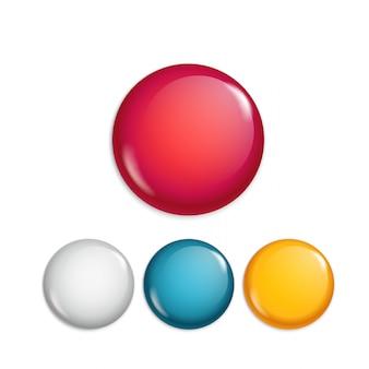 Botões de ímã de venda diferentes. coleção de banners de oferta especial. conjunto de banners de promo web