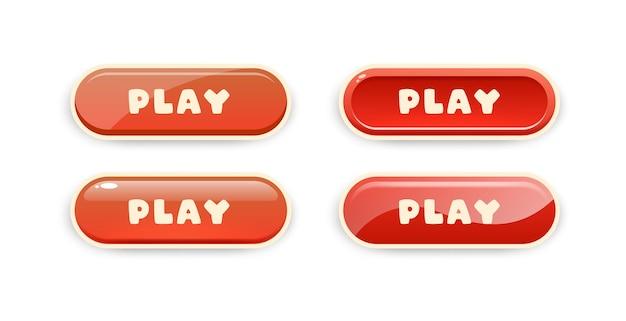 Botões de jogo para design de interface de usuário de jogos para celular