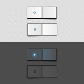 Botões de ligar e desligar