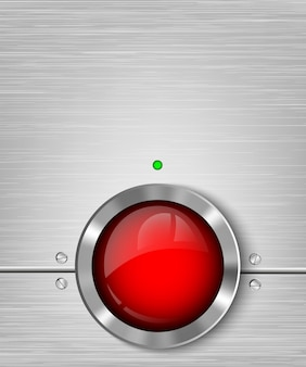 Botões de metal. ilustração