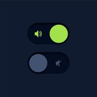 Botões de mudança de volume do alto-falante