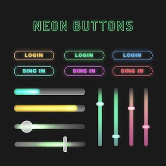 Botões de néon
