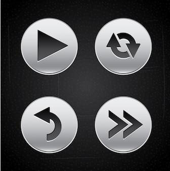 Botões de setas