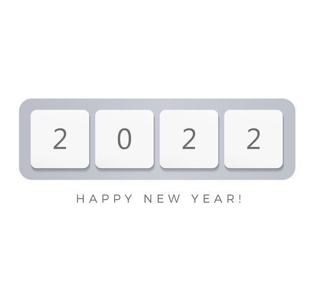 Botões de teclado de computador feliz ano novo design criativo de pôster para gui of it feriados de negócios