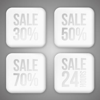 Botões de vendas embalar