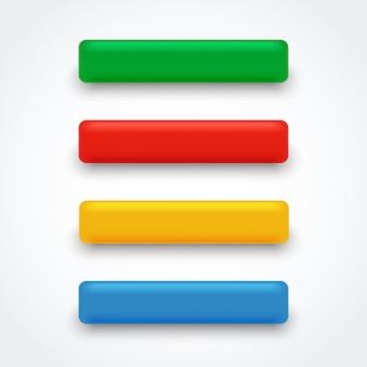 Botões de vidro colorido.