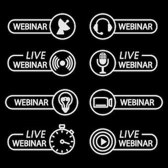 Botões de webinar ao vivo