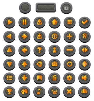 Botões do jogo de rpg