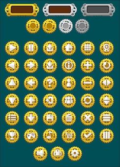 Botões do jogo de steampunk