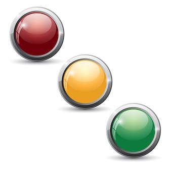 Botões do site. conjunto de botão brilhante.