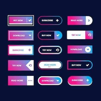 Botões gradientes de apelo à ação