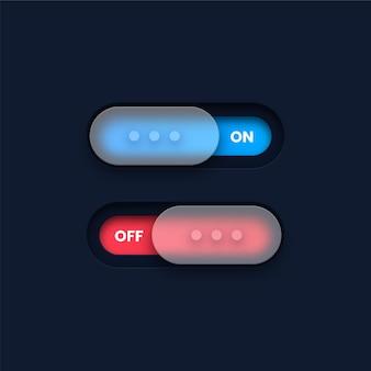 Botões liga / desliga