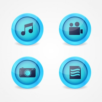 Botões multimídia