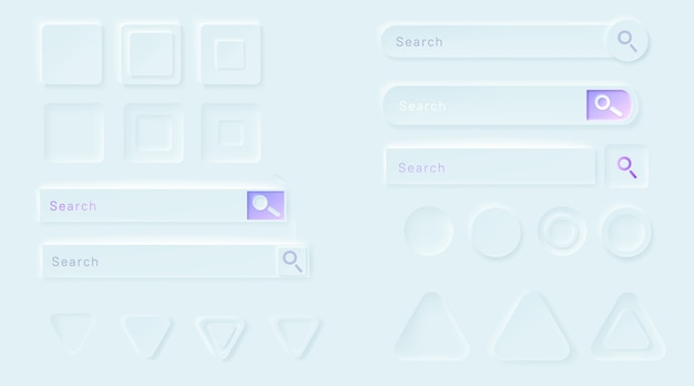 Botões neumórficos para o aplicativo ui.