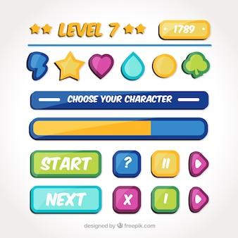 Botões para jogos de vídeo